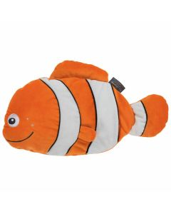 Warmwaterkruik-knuffel-clownvis-cleo-0,8L-warmteknuffel-wit-oranje-winter-opwarmen-zeedier-vis