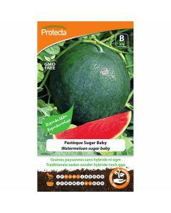 watermeloen-zaad-sugar-baby-kweken-biologisch-protecta-ecostyle-reproduceerbaar-zoete-meloen