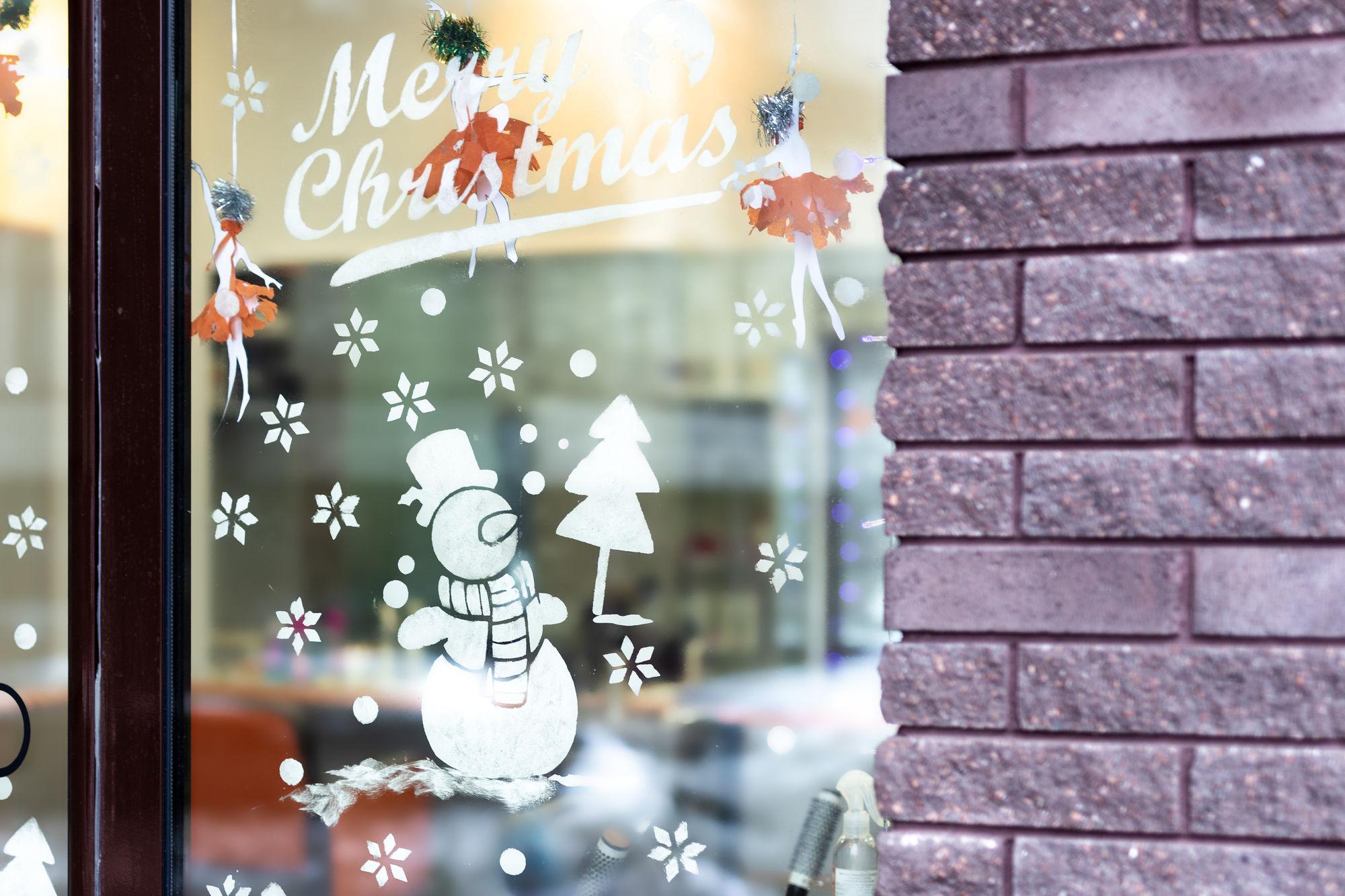 Kerstversiering met Blanc de Meudon
